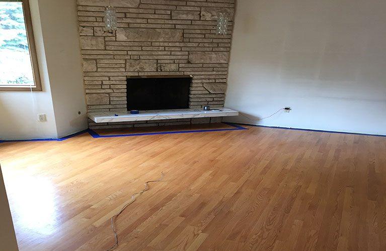 wooden floor after repair