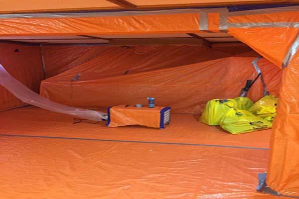 Asbestos removal extra precaution